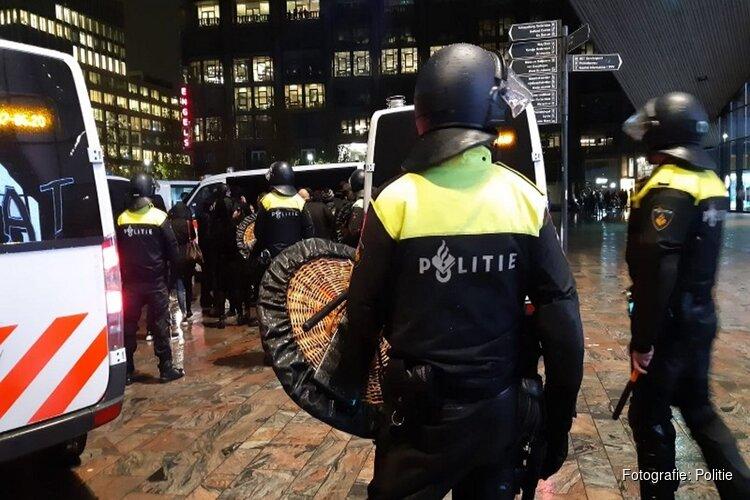 Tientallen aanhoudingen bij ongeregeldheden in Rotterdam