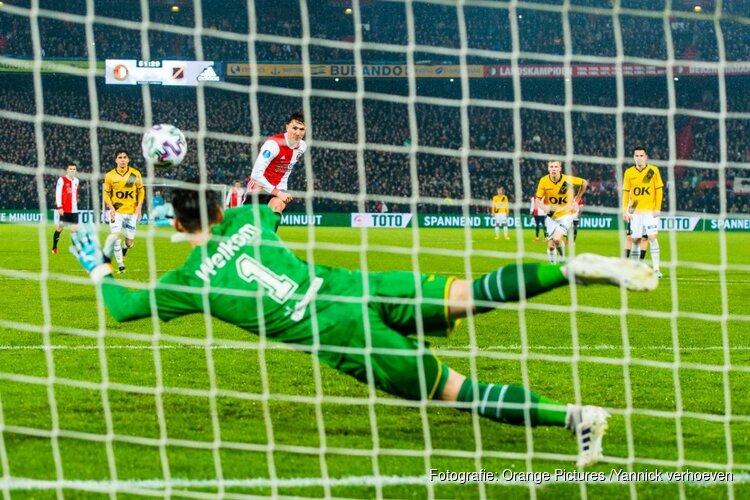 Feyenoord met zevenklapper naar bekerfinale