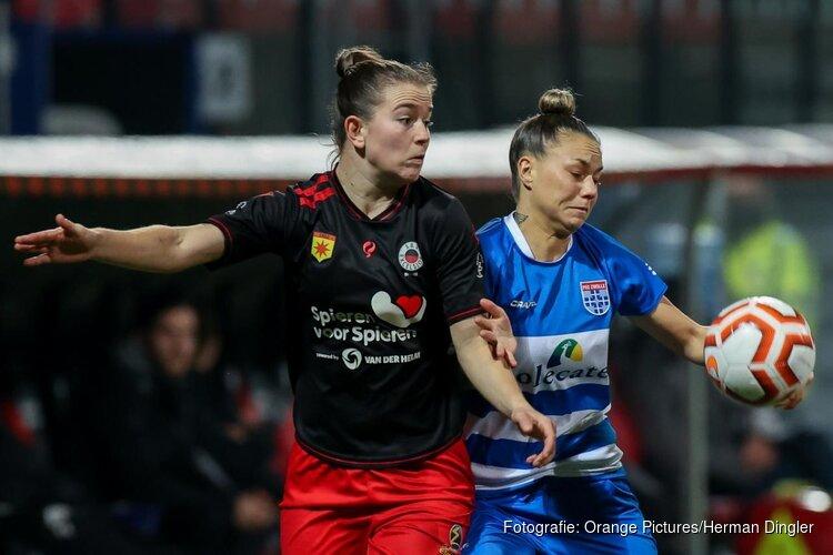 Excelsior vrouwen pakken tegen PEC Zwolle eerste seizoenzege